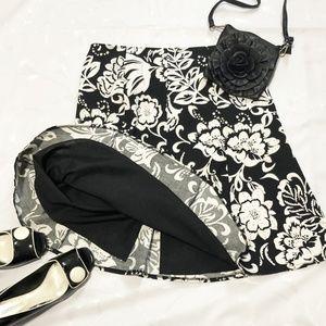 Melanie Lyne floral print skirt